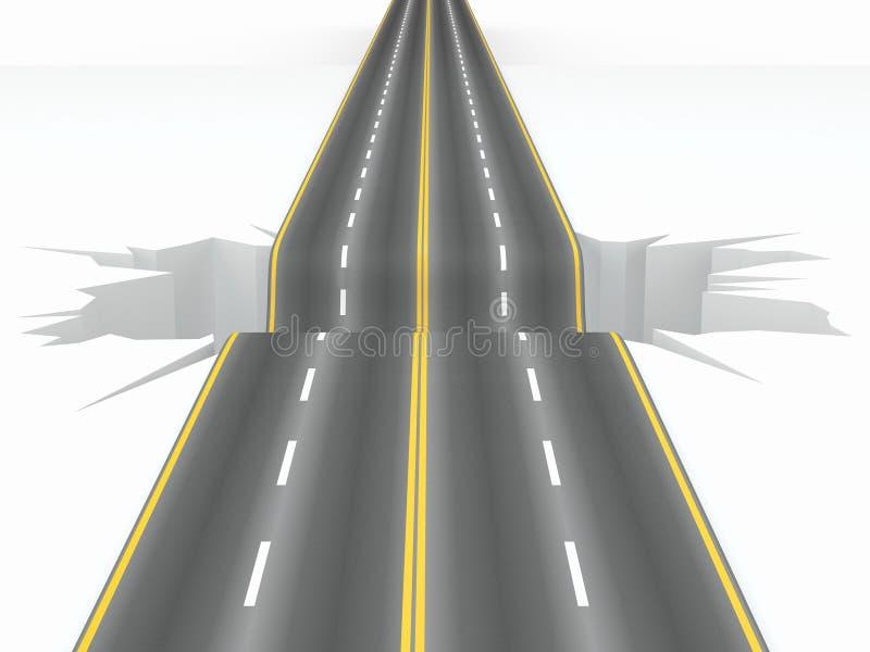 Download Hole On The Road. Concept Image Stock Illustration - Illustration: 23423984