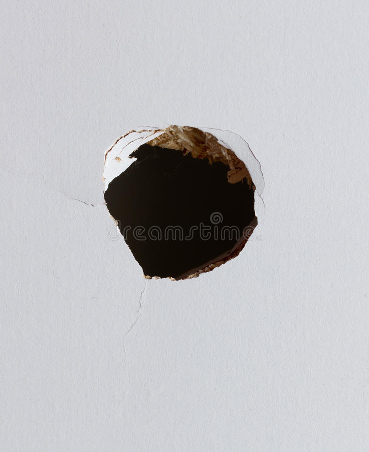 Hole in the wall royalty free stock image