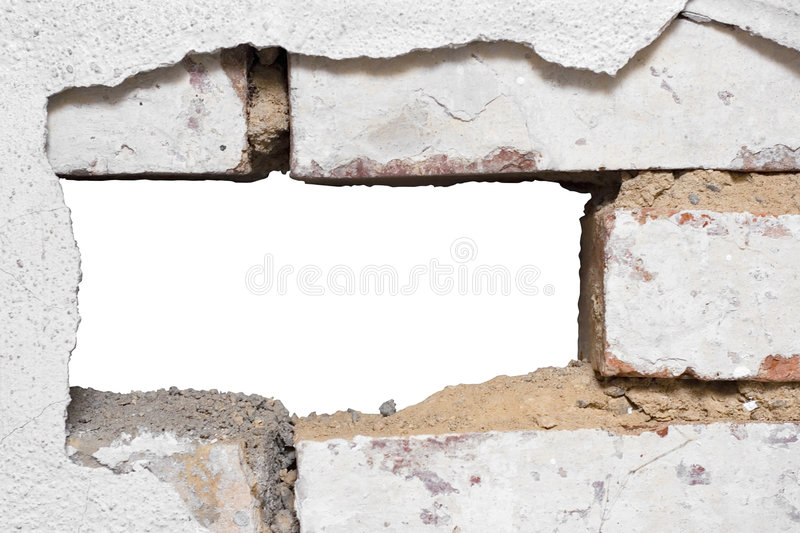 Hole in the Wall stock images