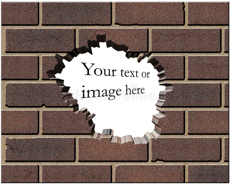 Download Hole in the wall stock illustration. Image of material - 880694