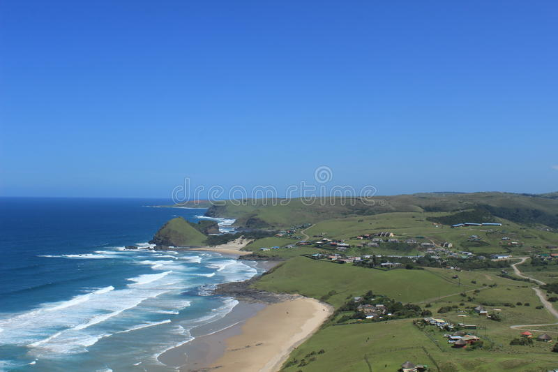 Hole in the wall, a small village along the Wild Coast in South Africa, african holiday travel background royalty free stock photos