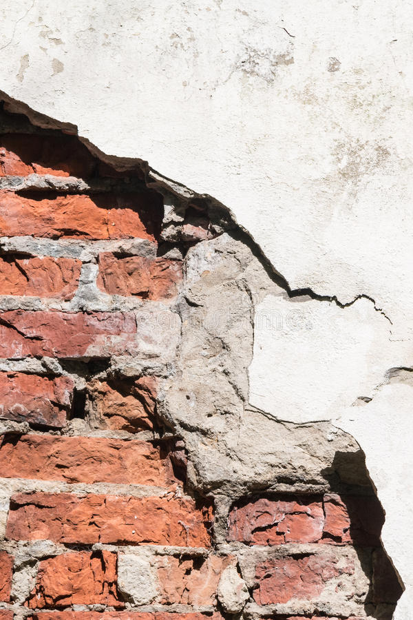 Through a hole in a wall it is visible bricks royalty free stock photo