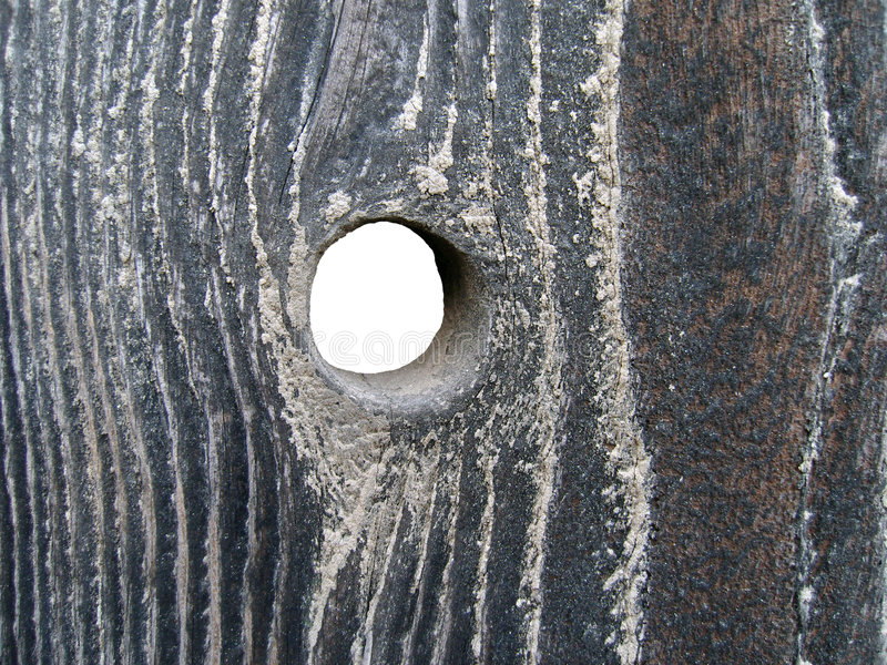 Download Hole In Wood Royalty Free Stock Images - Image: 6388389