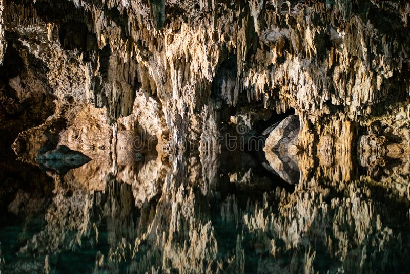 Holen Cenote Labnaha, Riviera Maya, Mexico stock foto