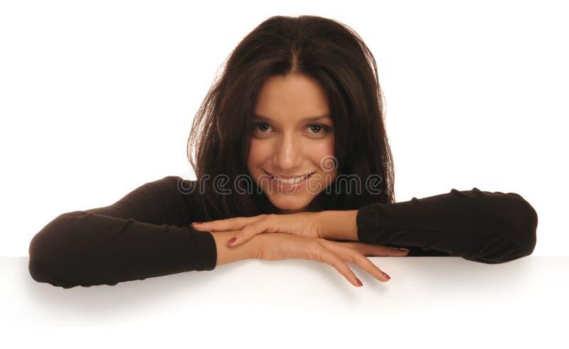 Holen des Lächelns auf Weiß lizenzfreie stockbilder
