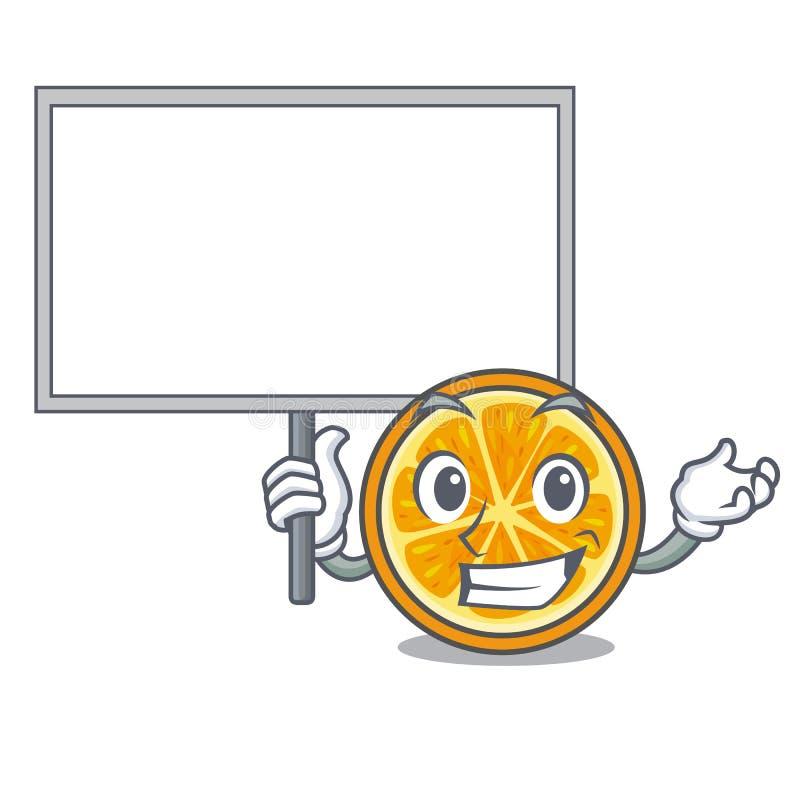 Holen Sie Brett orange Charakterkarikaturart stock abbildung