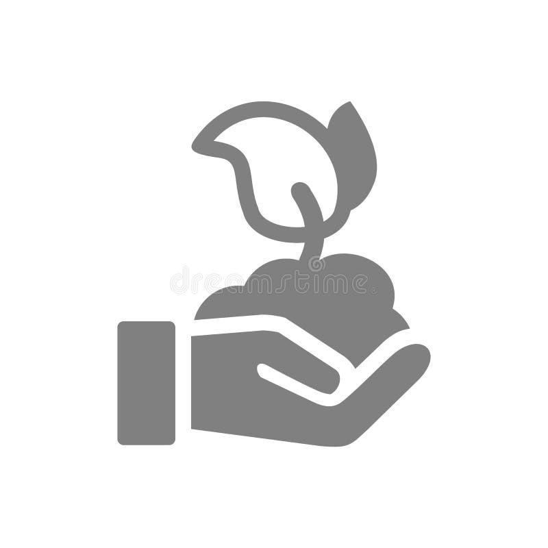 Holen Sie Samenpflanze-Ikone stockfotografie