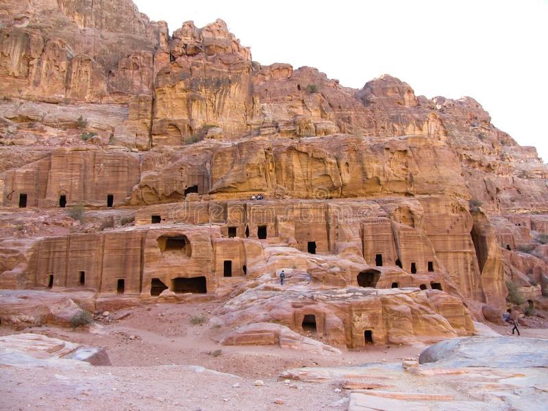 Holen van de oude stad jordanië petra royalty-vrije stock afbeeldingen
