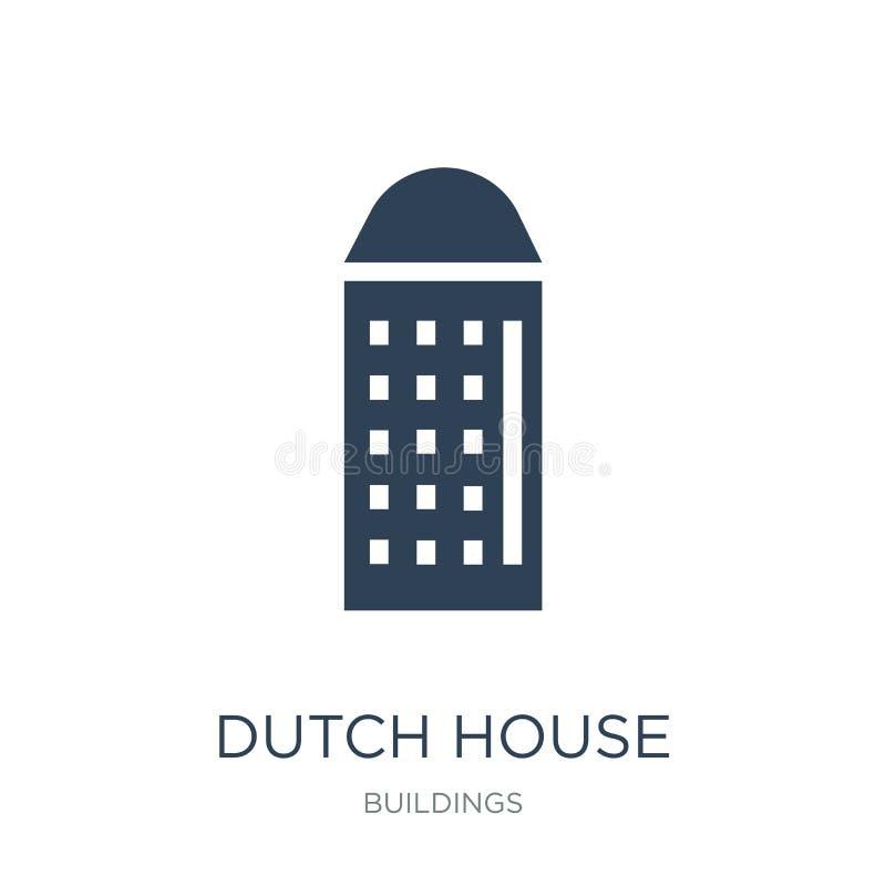holender domowa ikona w modnym projekta stylu holender domowa ikona odizolowywająca na białym tle holender domowa wektorowa ikona royalty ilustracja