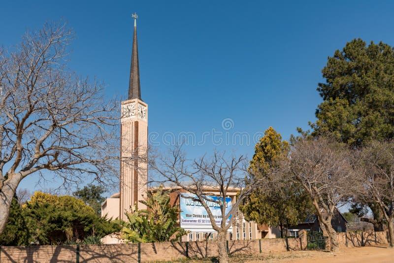 Holendera Reformowany Macierzysty kościół w Welkom fotografia stock