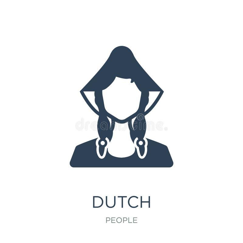 holenderska ikona w modnym projekta stylu holenderska ikona odizolowywająca na białym tle holenderskiej wektorowej ikony prosty i ilustracji