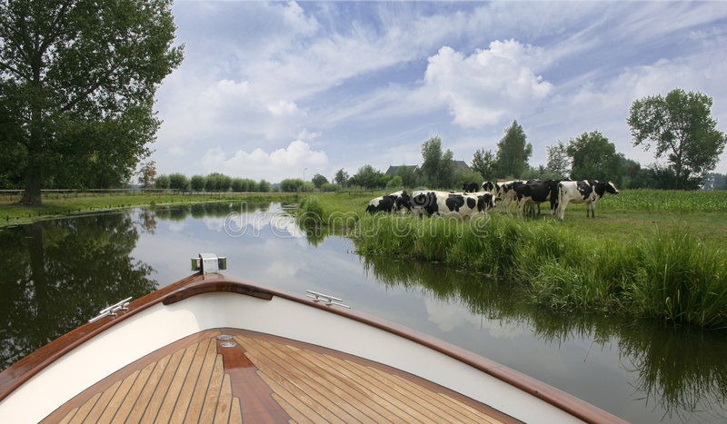 holenderska rejs river podróż zdjęcie royalty free