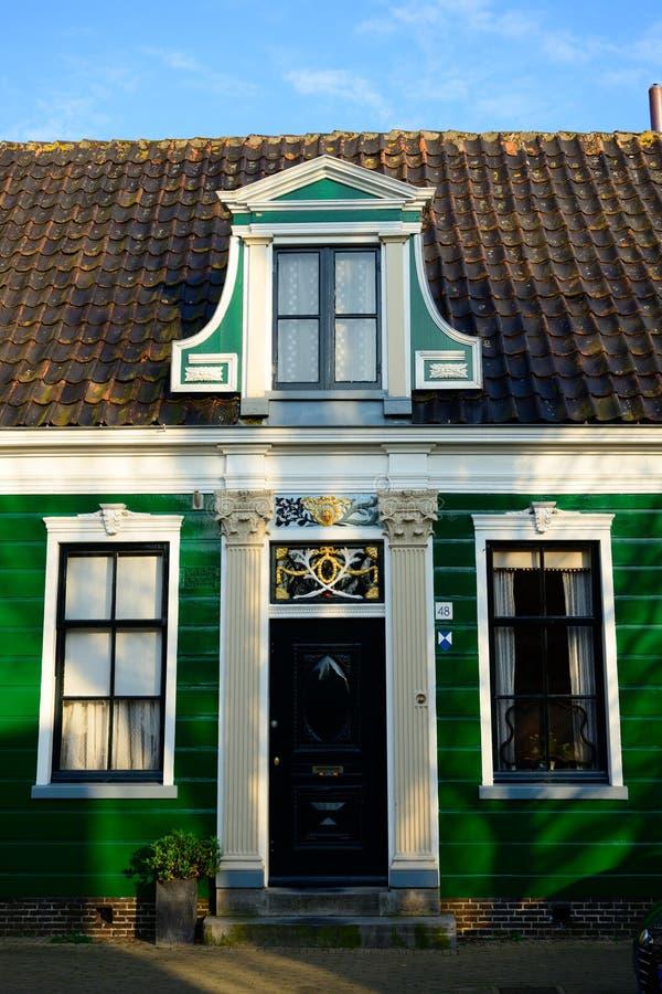 Holenderska stara domowa architektura na kraj stronie holandie zdjęcia royalty free