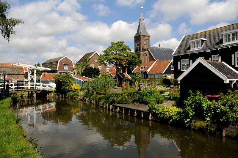 Holenderska wioska rybacka Marken, holandie obrazy stock