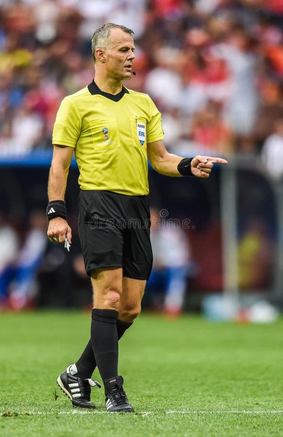 Holenderski futbolowy arbiter Bjorn Kuipers obraz royalty free