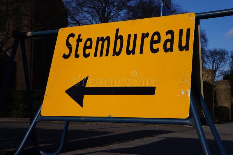 Holenderski głosuje biuro znak zdjęcie stock