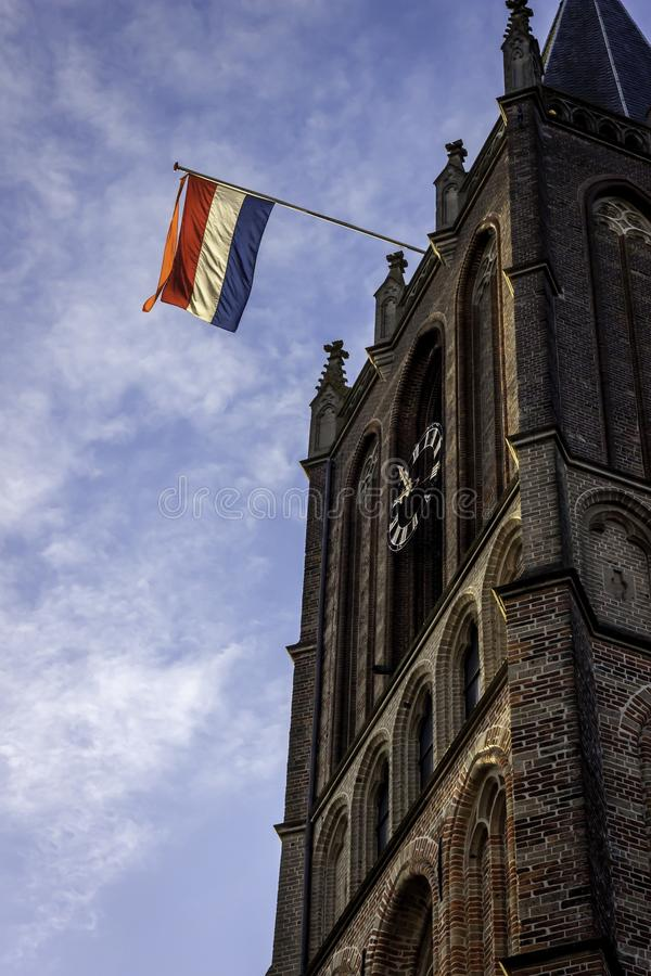 Holenderski kościół na wyzwolenie dniu Holandia obrazy royalty free