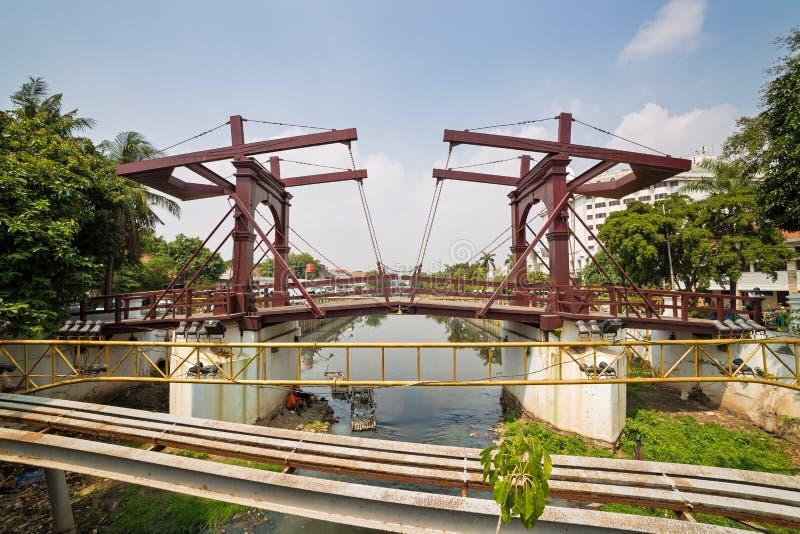 Holenderski mostek dyżurny w Dżakarcie obrazy stock