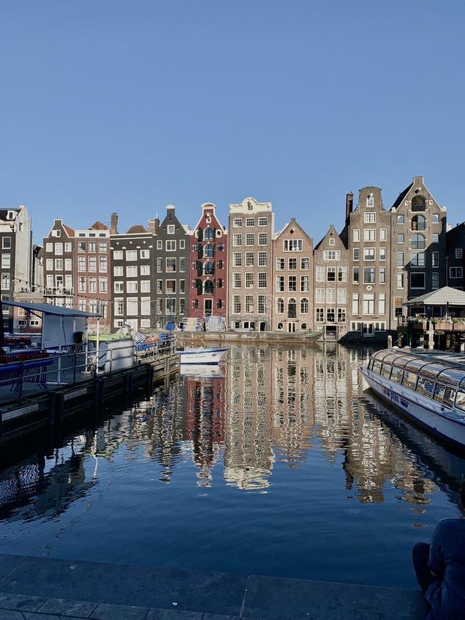 Holenderskie domy tradycyjne w Holandii fotografia stock
