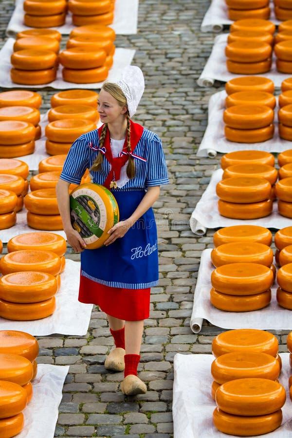 Holenderskiego sera rynek w Gouda zdjęcie royalty free