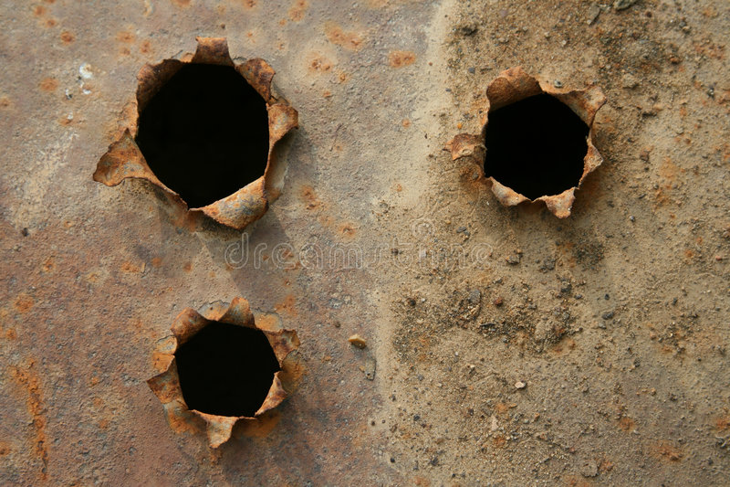 Holes royalty free stock image