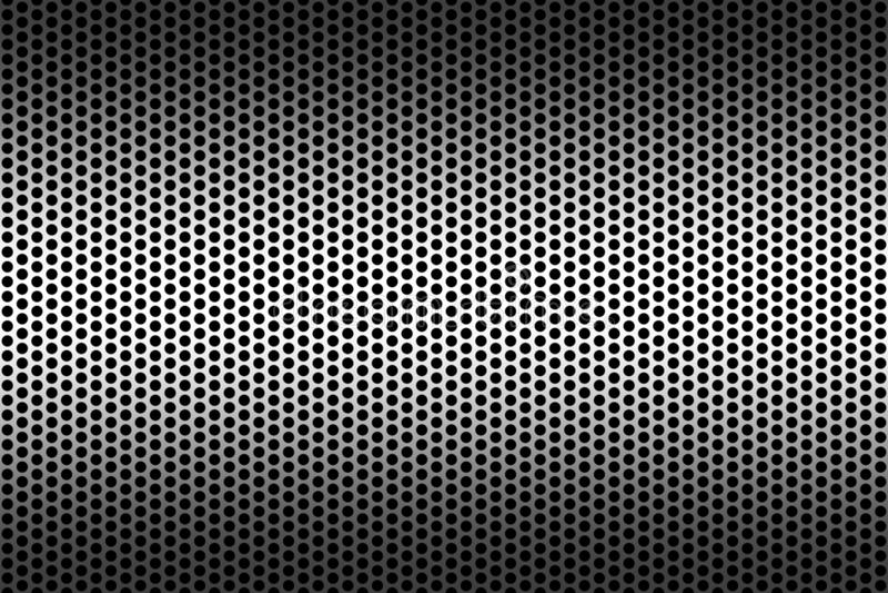 holes metallisk textur stock illustrationer