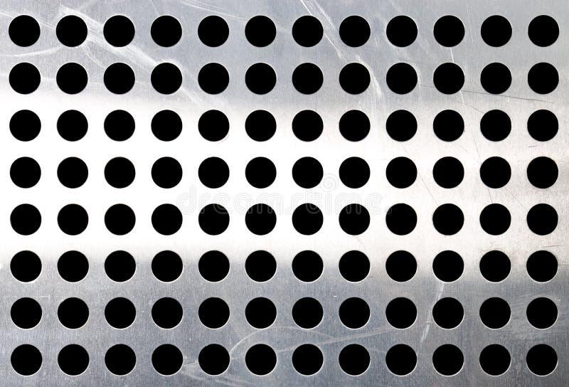 holes metallisk yttersida arkivfoton