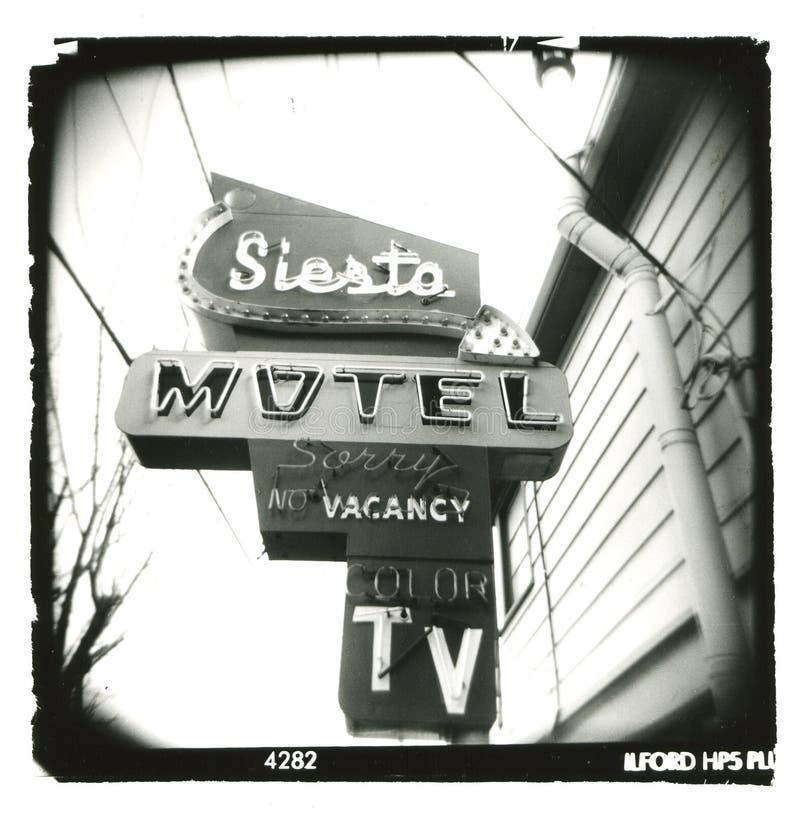 Holga_siesta-motel_sign stock images