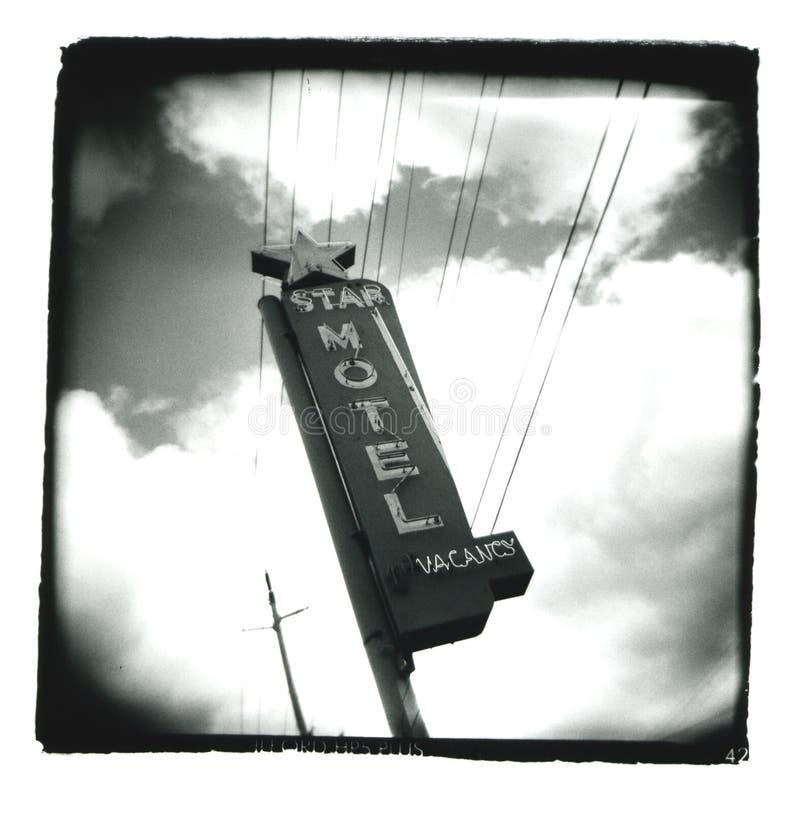 Holga_star-motel_sign royalty-vrije stock foto's