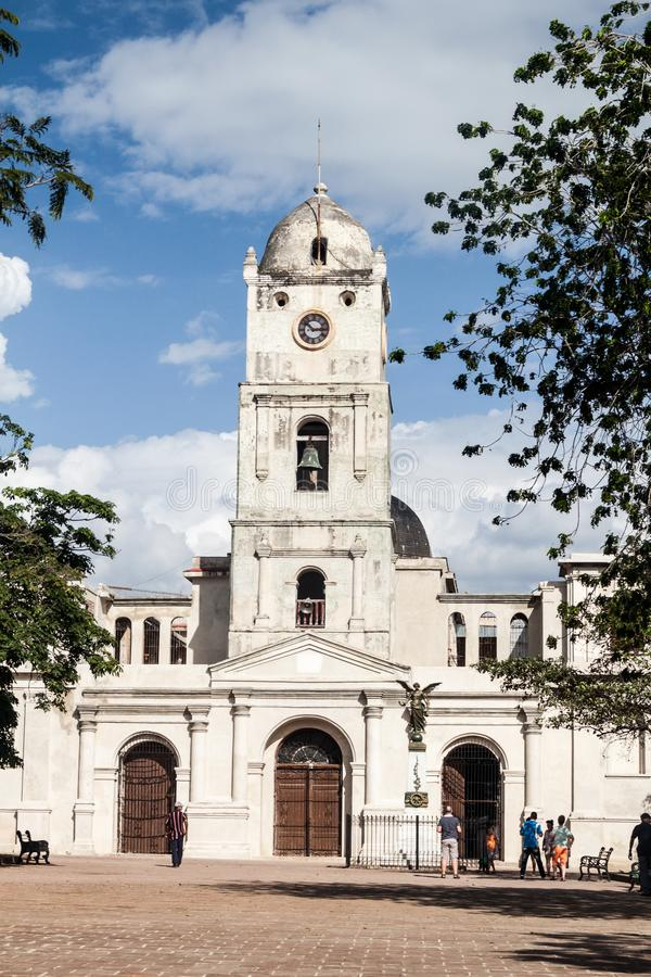 HOLGUIN, CUBA - JAN 28, 2016: San Jose church in Holguin, Cub royalty free stock photo