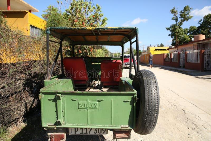 Holguin, Cuba, 11 24 2018 Véhicule militaire tous terrains d'armée américaine de Willys de la deuxième guerre mondiale M 606 photo stock