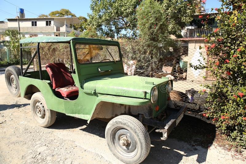 Holguin, Cuba, 11.24.2018. Willys American Army off-road military vehicle of the Second World War M 606 royalty free stock photography