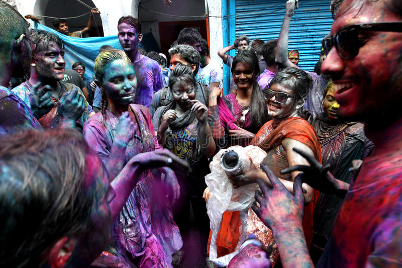 Holi του φεστιβάλ Hindus στοκ εικόνες