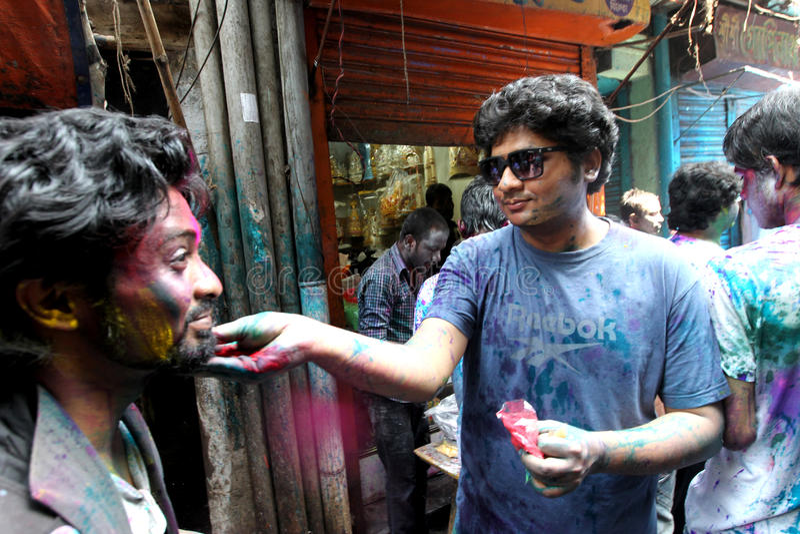 Holi του φεστιβάλ Hindus στοκ φωτογραφίες με δικαίωμα ελεύθερης χρήσης