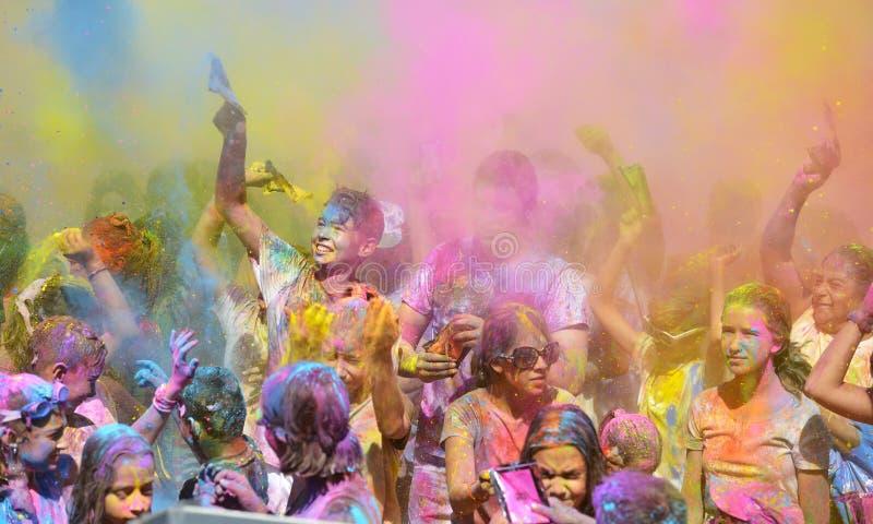 Holi, φεστιβάλ των χρωμάτων στοκ εικόνες