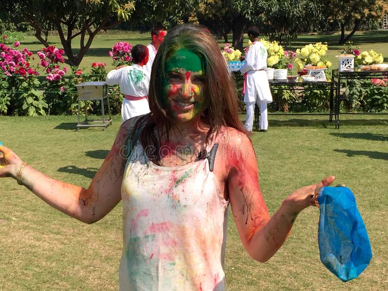 holi φεστιβάλ χρωμάτων στοκ φωτογραφίες με δικαίωμα ελεύθερης χρήσης