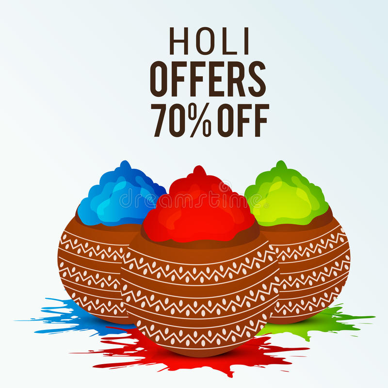 Holi stock illustrationer