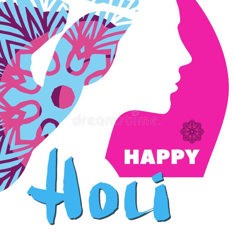 Holi illustration stock