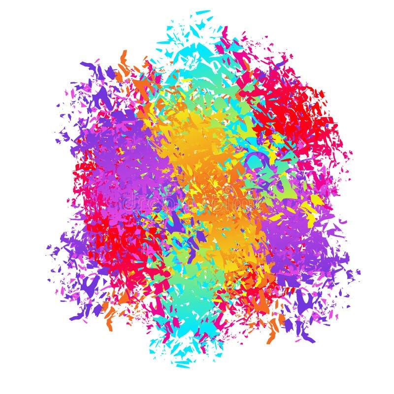 Holi abstrakt begreppbakgrund Sprej- och borsteslaglängder färger Festiv vektor illustrationer