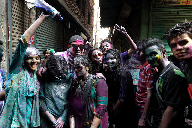 Holi av den Hindus festivalen arkivfoto