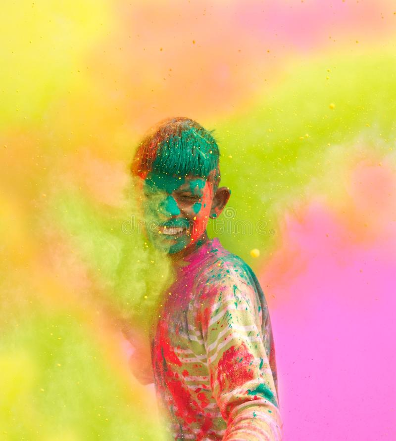 Holi celebrations in India. stock photos