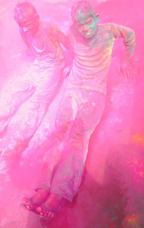 Holi celebrations in India. stock photo