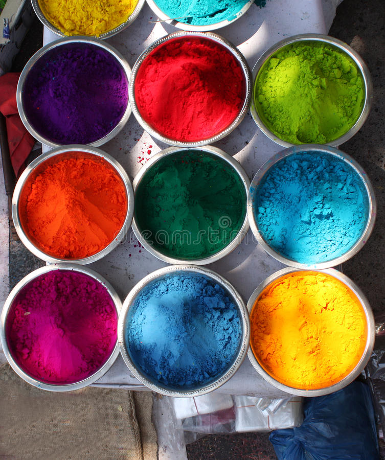 Download Holi Colors stock photo. Image of asians, objects, blue - 18830166