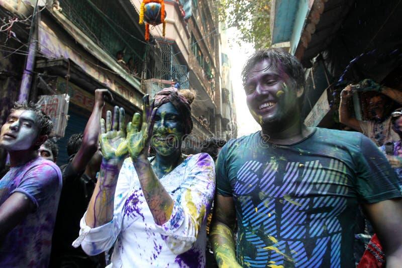 Holi del festival de Hindus imagen de archivo libre de regalías