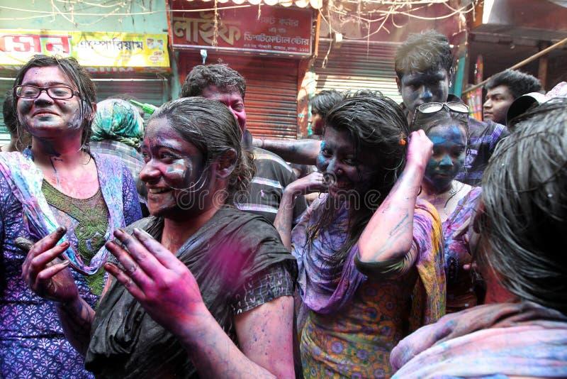 Holi del festival de Hindus fotografía de archivo
