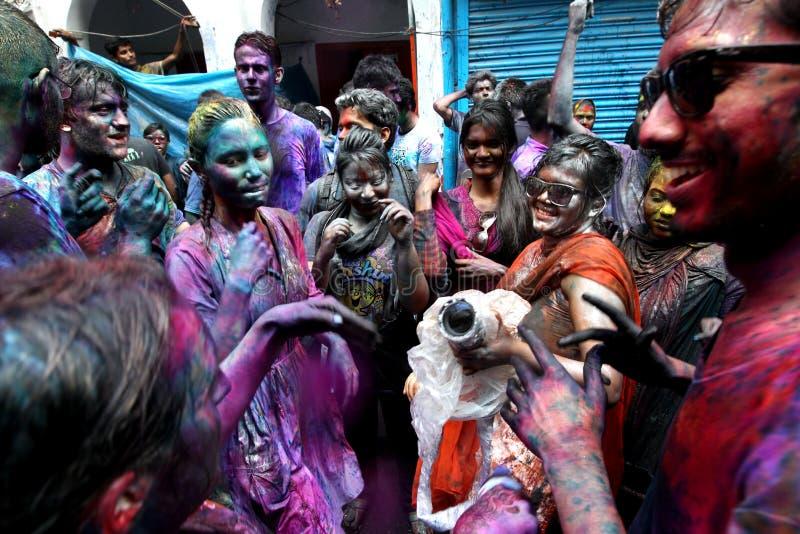 Holi del festival de Hindus foto de archivo