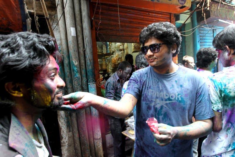 Holi del festival de Hindus fotos de archivo libres de regalías