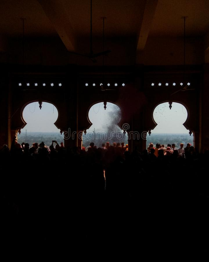 Holi en el festival vrindavan de Mathura la India fotografía de archivo libre de regalías