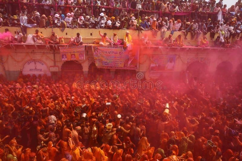Holi - färgfestival i Indien royaltyfri foto
