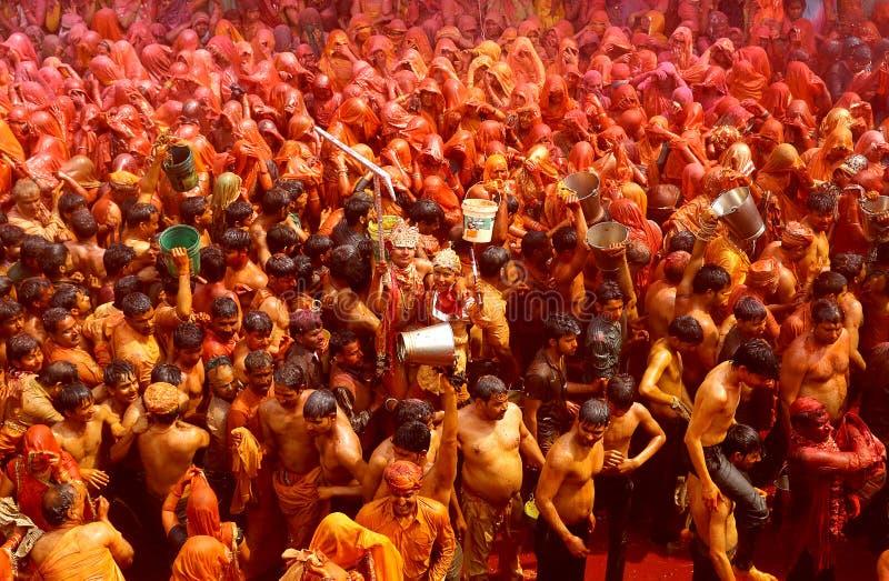 Holi - Farbfestival in Indien stockbilder